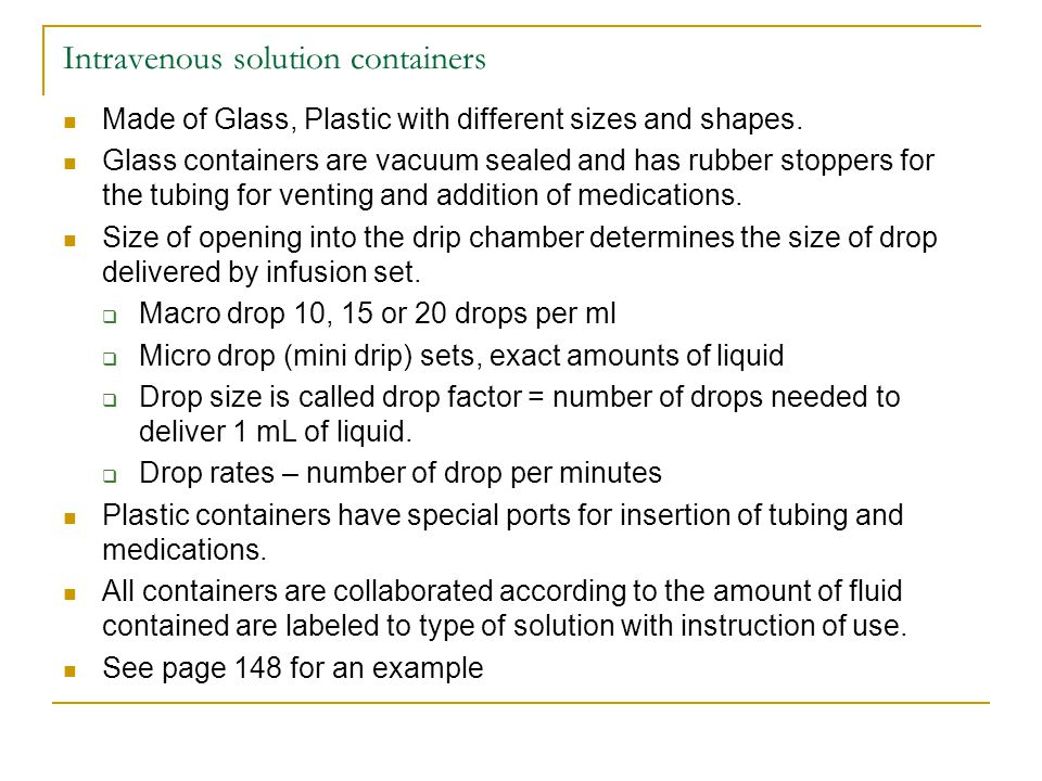 Intravenous solution containers