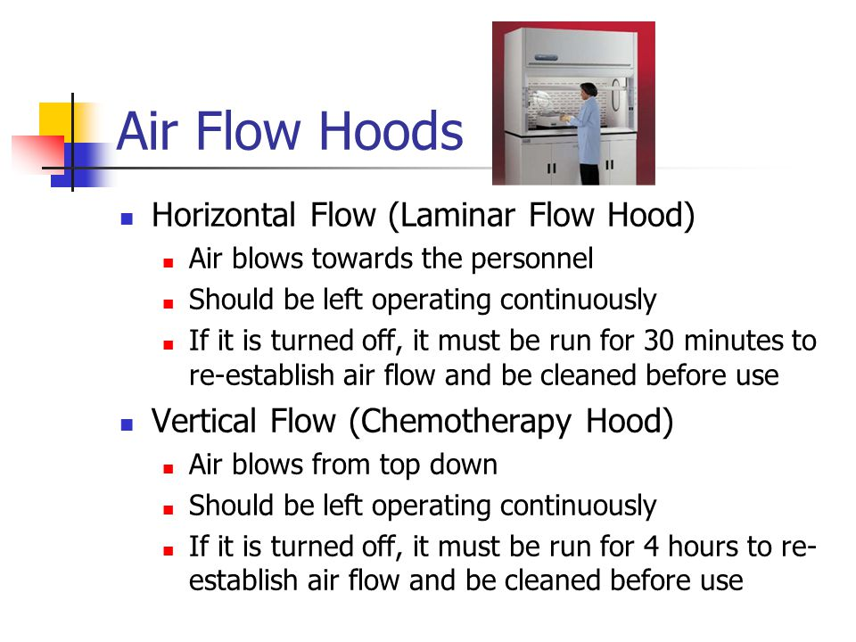 Air Flow Hoods Horizontal Flow (Laminar Flow Hood)