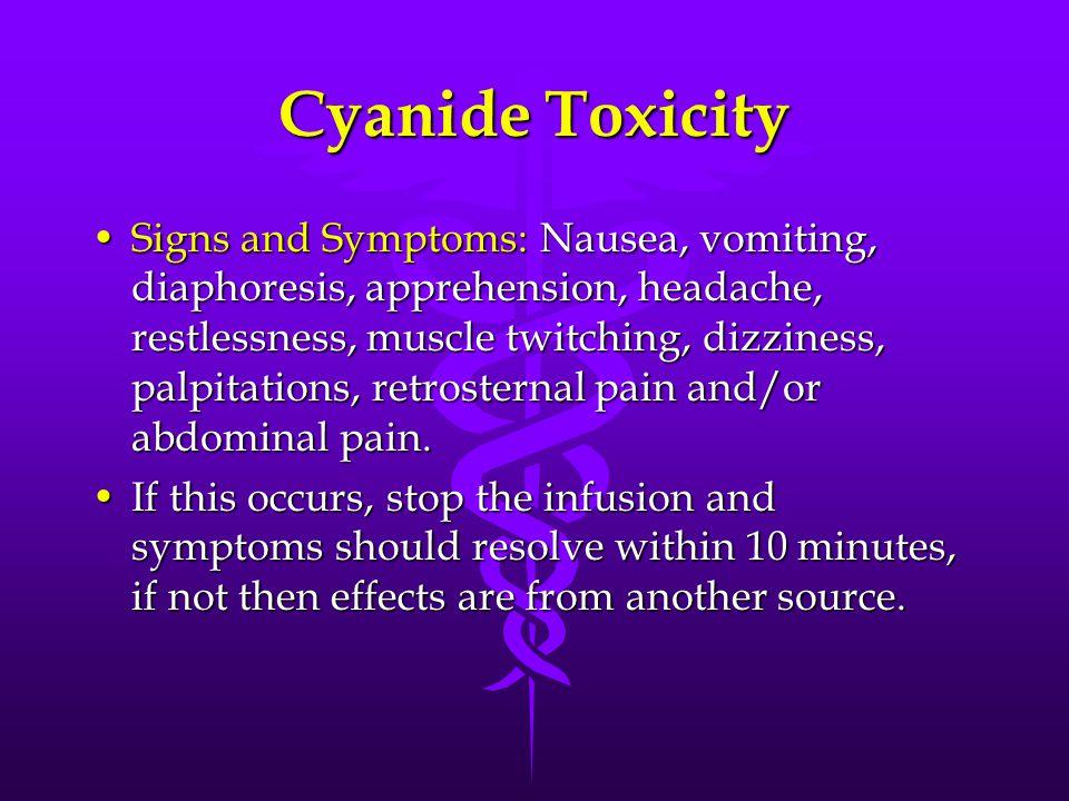 Cyanide Toxicity