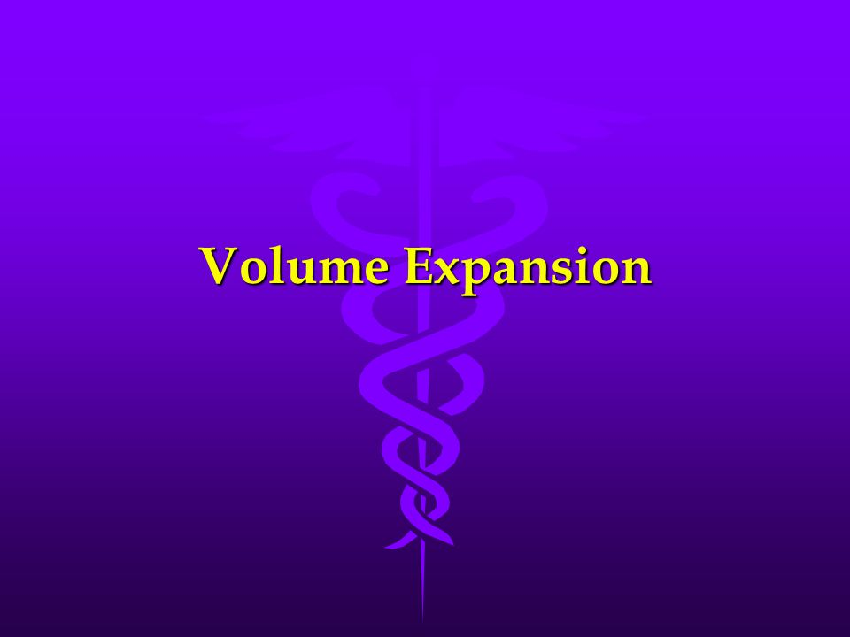 Volume Expansion