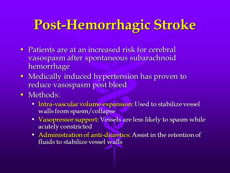 Post-Hemorrhagic Stroke