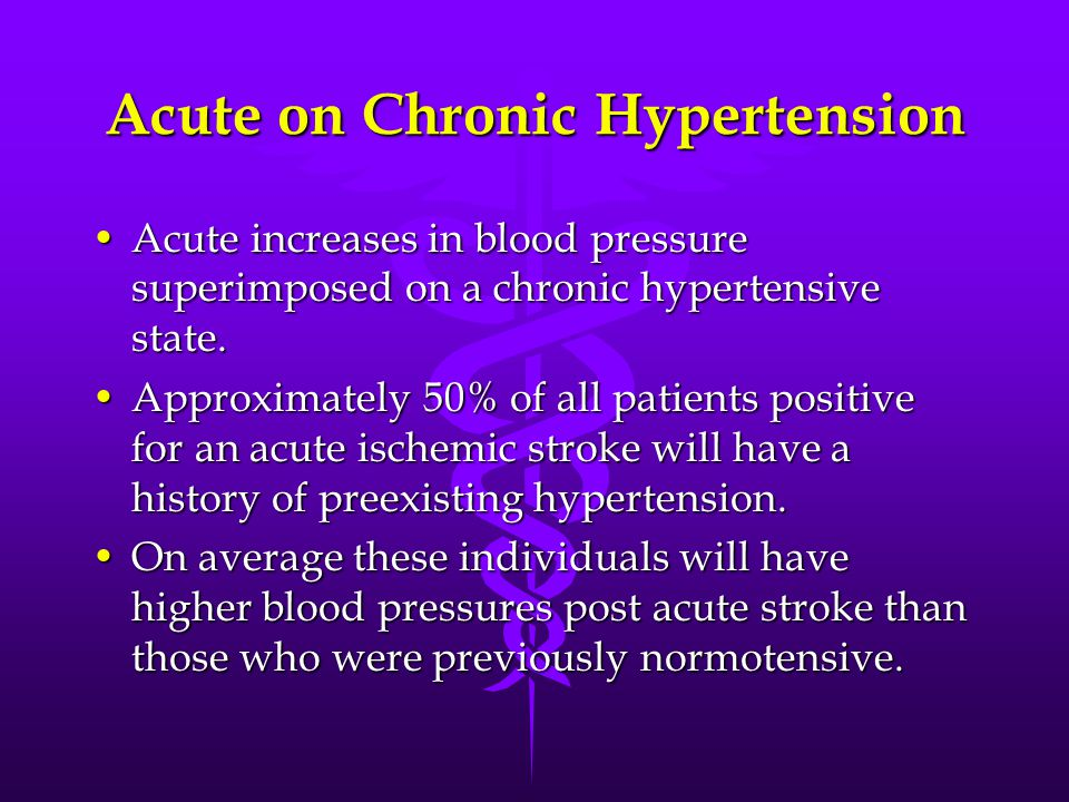 Acute on Chronic Hypertension