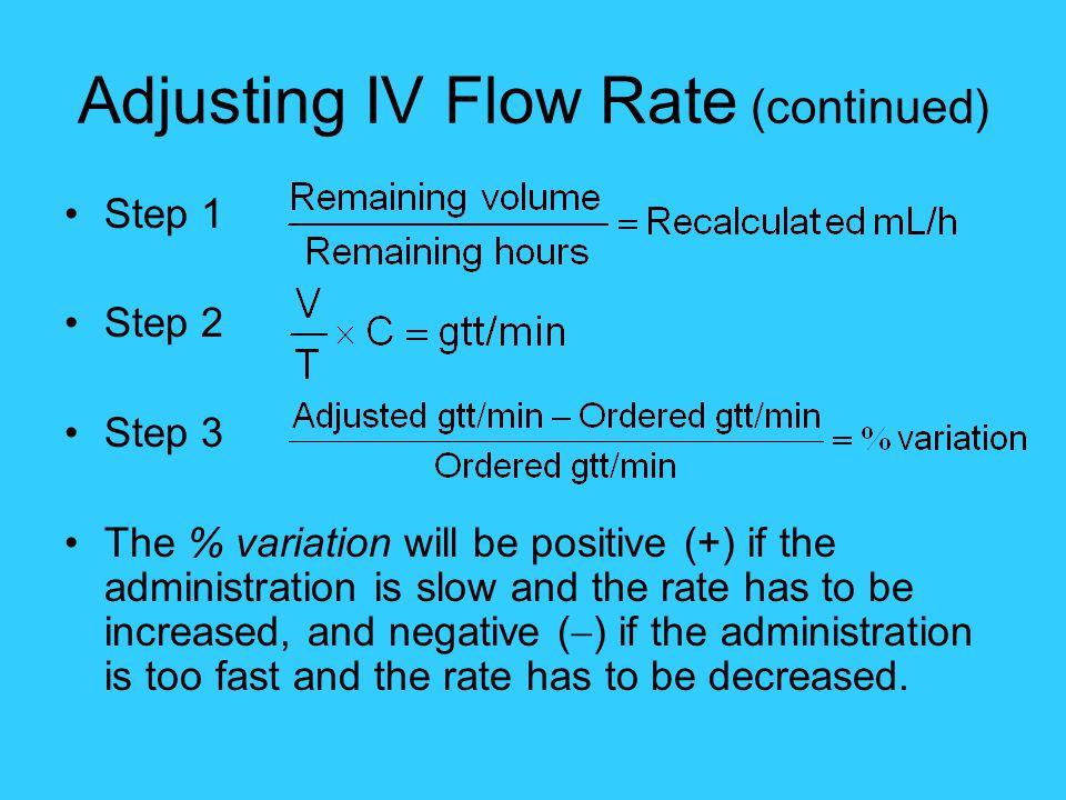 Adjusting IV Flow Rate (continued)