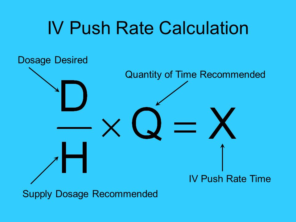 IV Push Rate Calculation