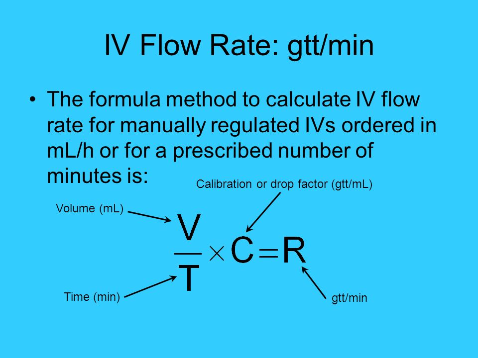 Calibration or drop factor (gtt/mL)