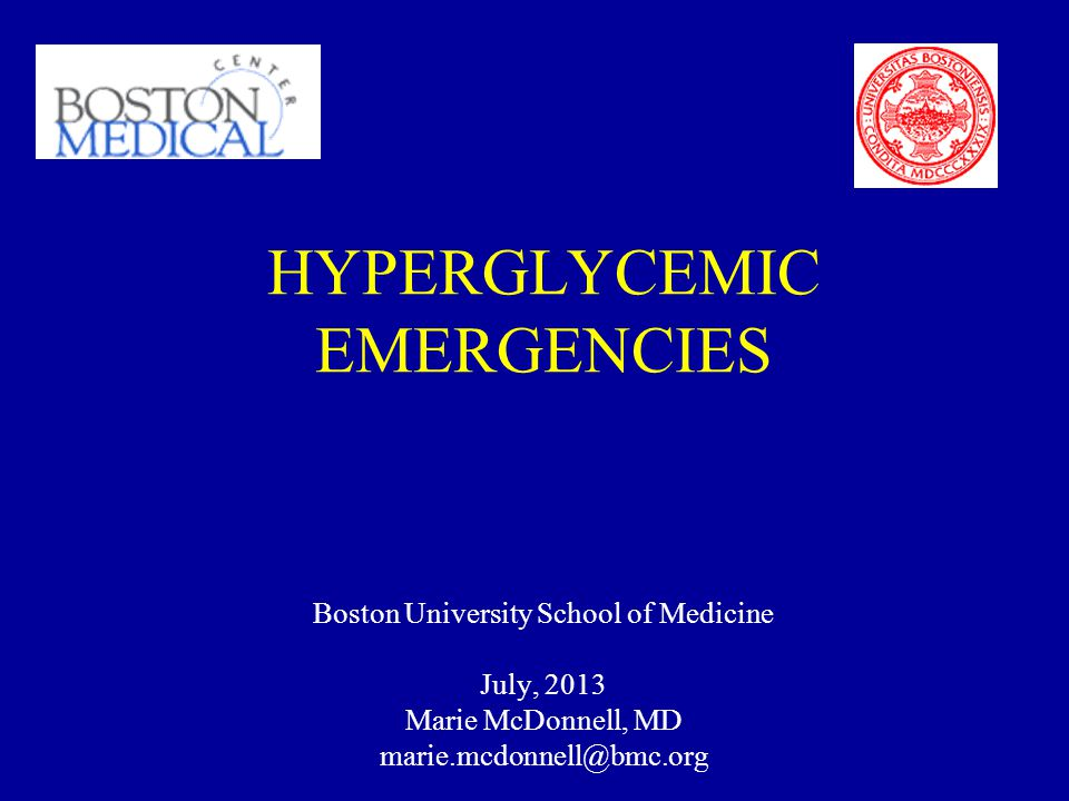 HYPERGLYCEMIC EMERGENCIES