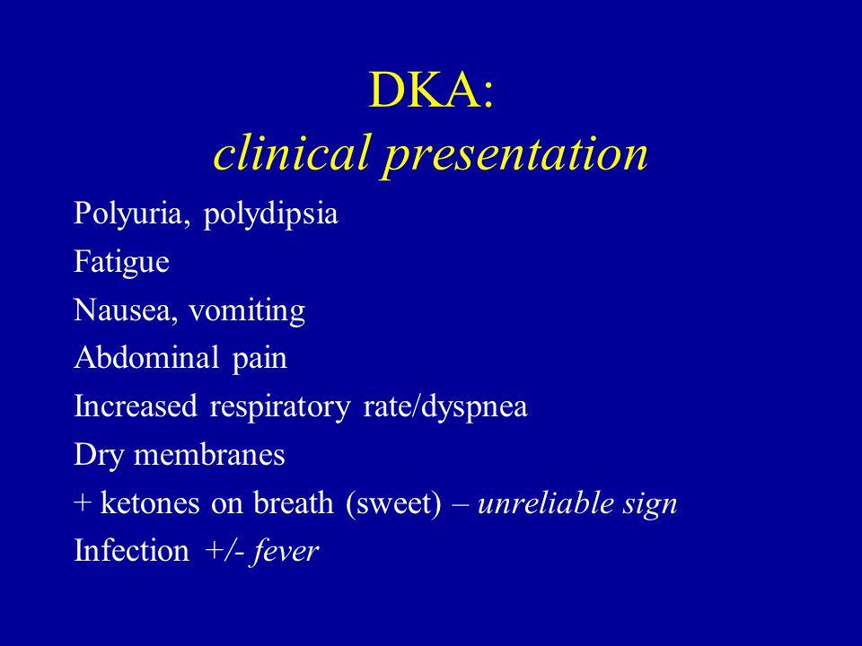 DKA: clinical presentation
