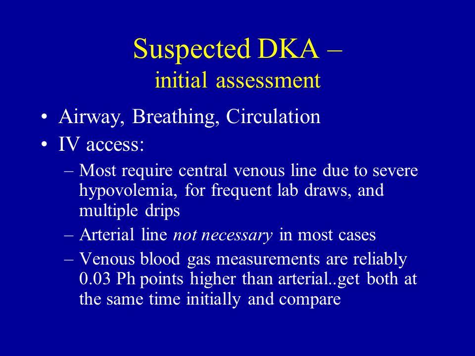 Suspected DKA – initial assessment