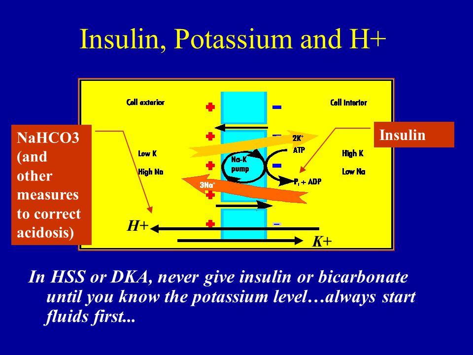 Insulin, Potassium and H+