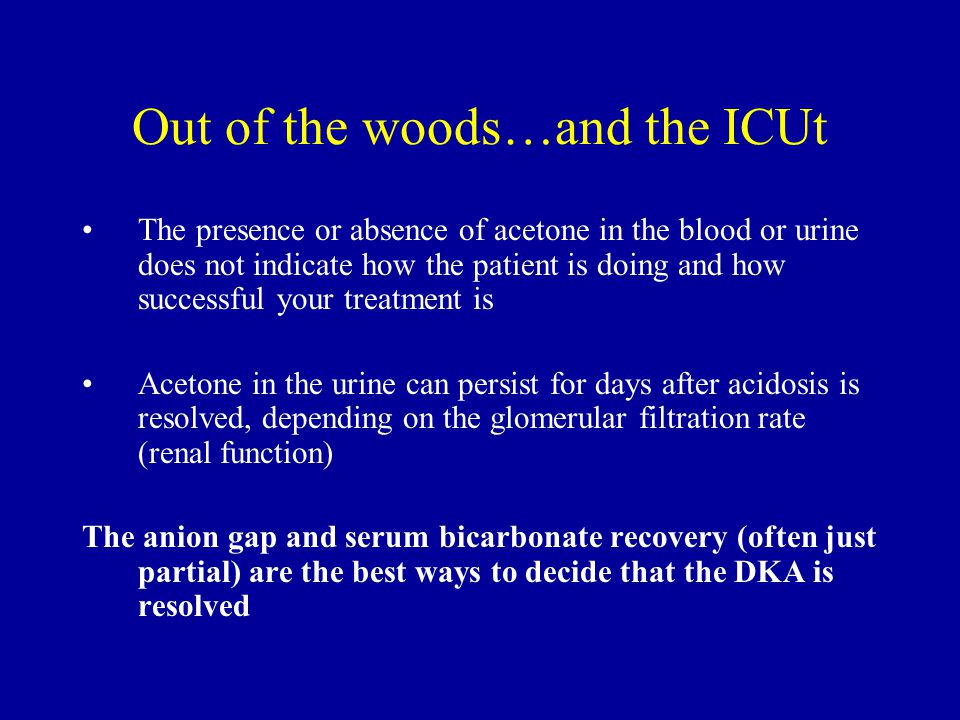 Out of the woods…and the ICUt