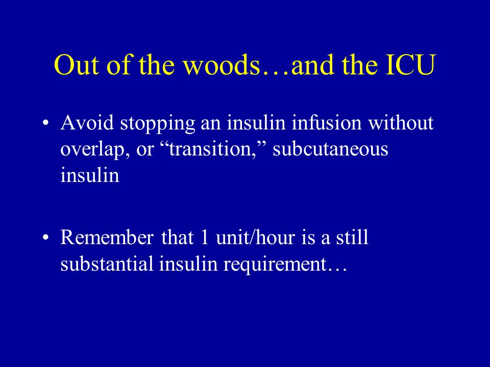 Out of the woods…and the ICU