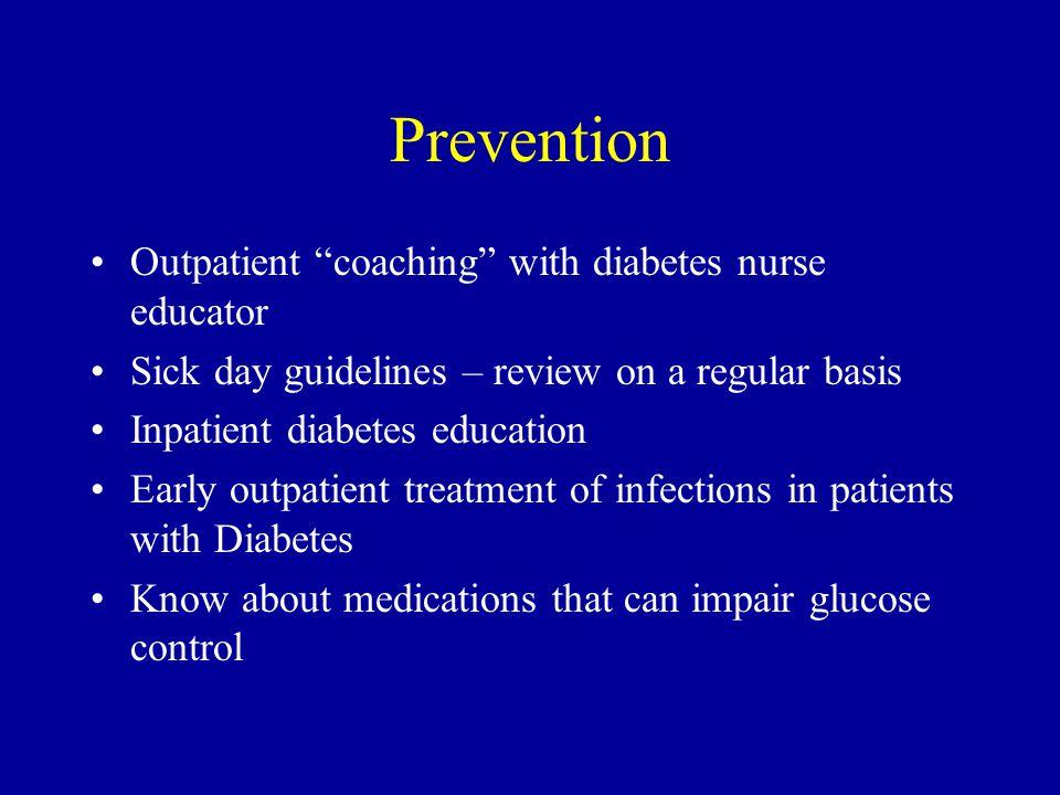 Prevention Outpatient coaching with diabetes nurse educator