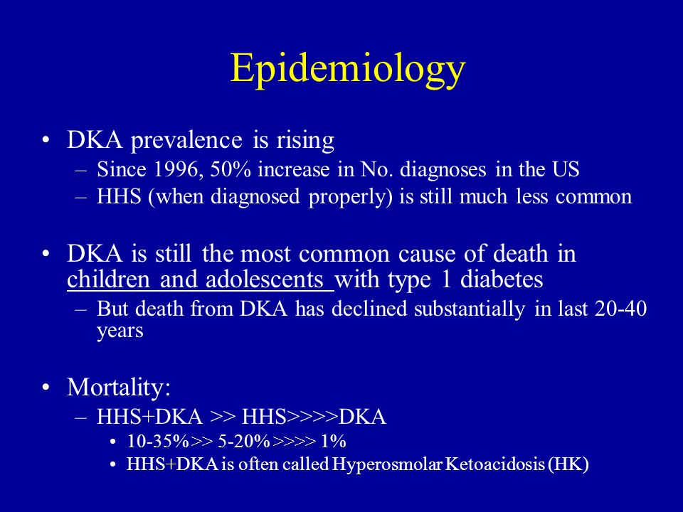 Epidemiology DKA prevalence is rising