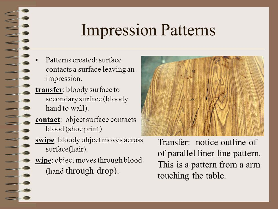 Impression Patterns Transfer: notice outline of