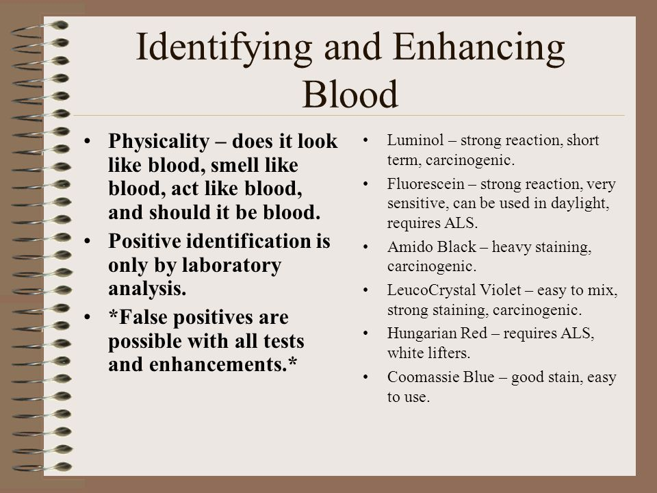 Identifying and Enhancing Blood