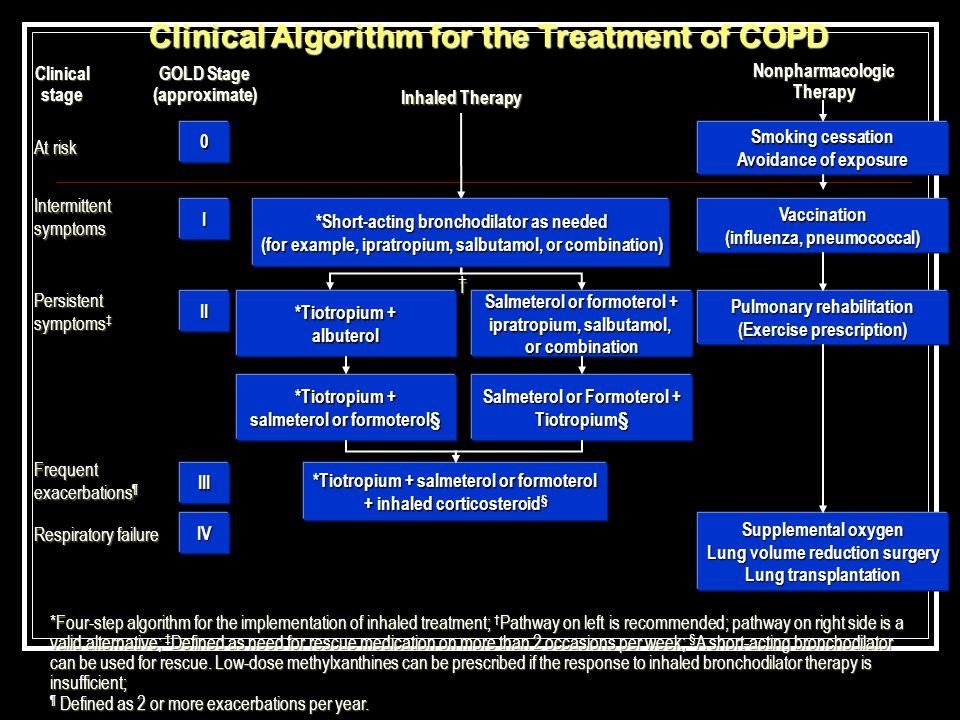 Clinical Algorithm for the Treatment of COPD