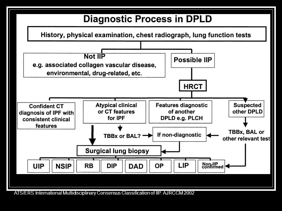 ATS/ERS International Multidisciplinary Consensus Classification of IIP. AJRCCM 2002
