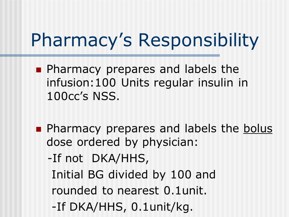 Pharmacy's Responsibility