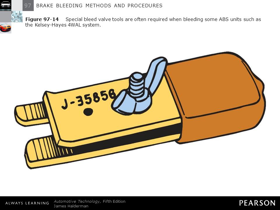 Figure 97-14 Special bleed valve tools are often required when bleeding some ABS units such as the Kelsey-Hayes 4WAL system.