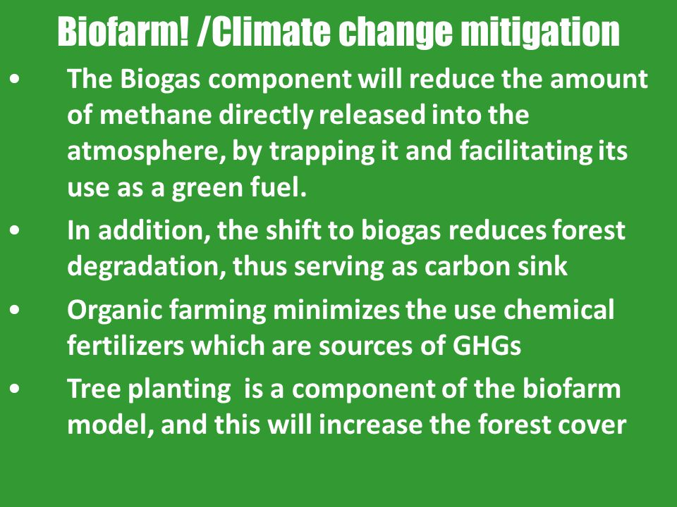 Biofarm! /Climate change mitigation