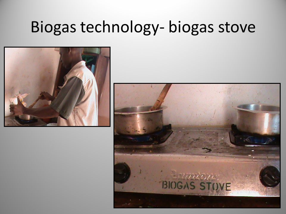 Biogas technology- biogas stove