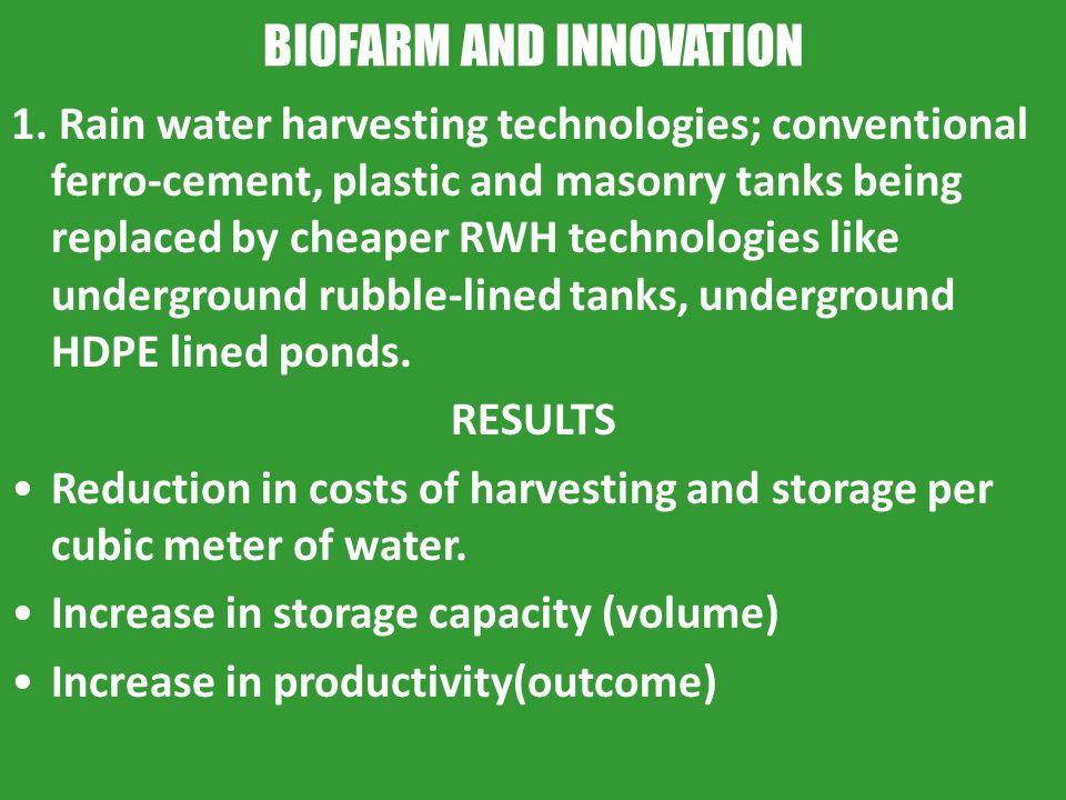 BIOFARM AND INNOVATION