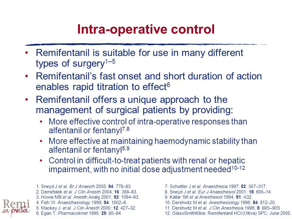 Intra-operative control