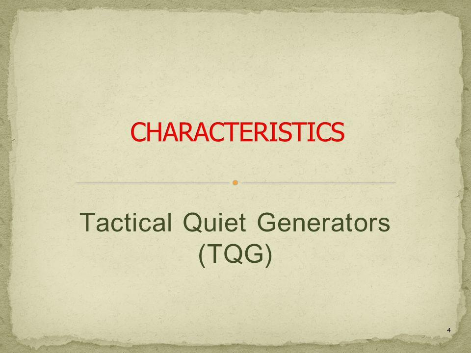 Tactical Quiet Generators (TQG)