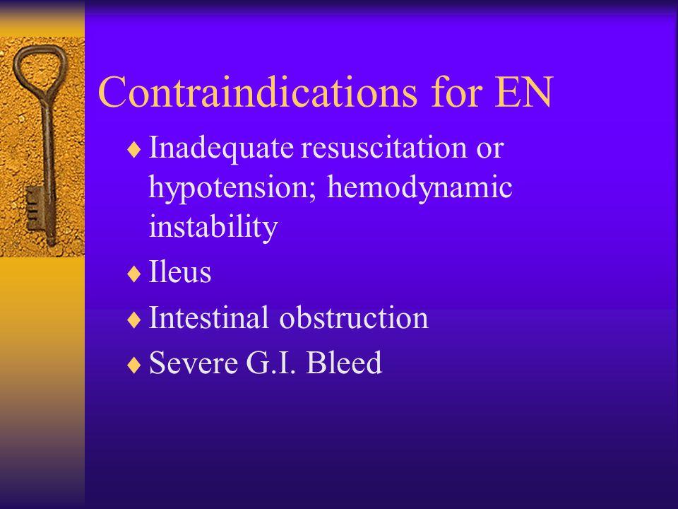 Contraindications for EN