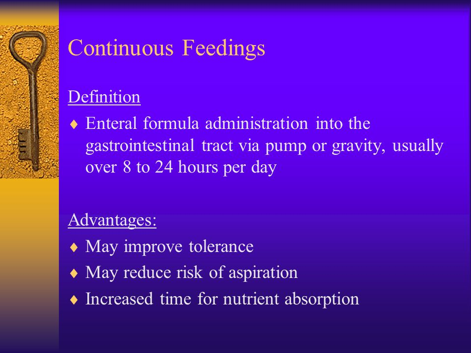 Continuous Feedings Definition