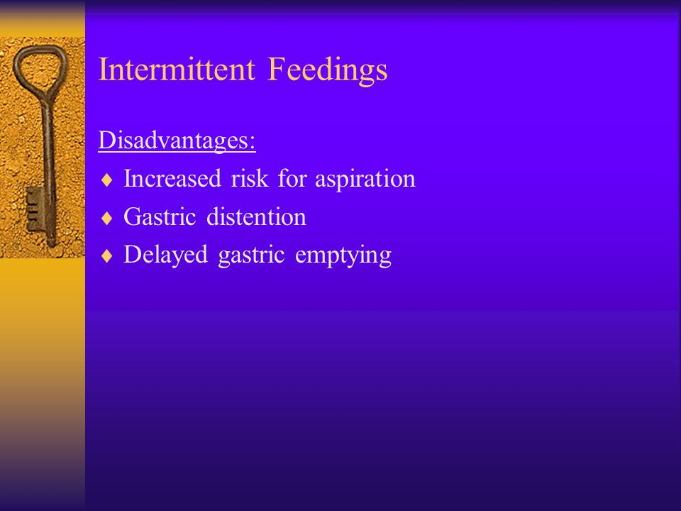 Intermittent Feedings