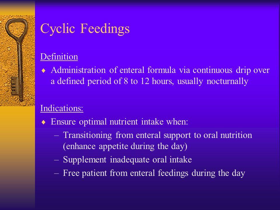 Cyclic Feedings Definition