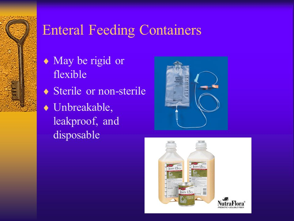 Enteral Feeding Containers