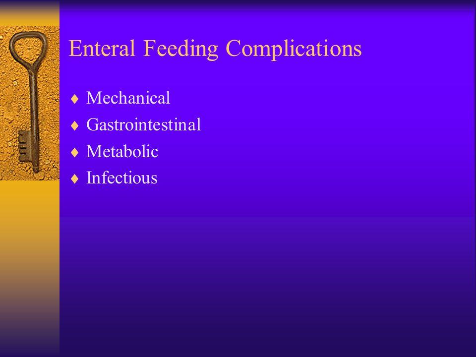 Enteral Feeding Complications