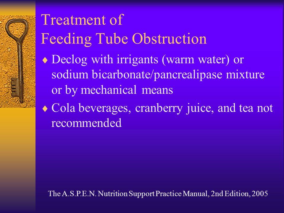Treatment of Feeding Tube Obstruction
