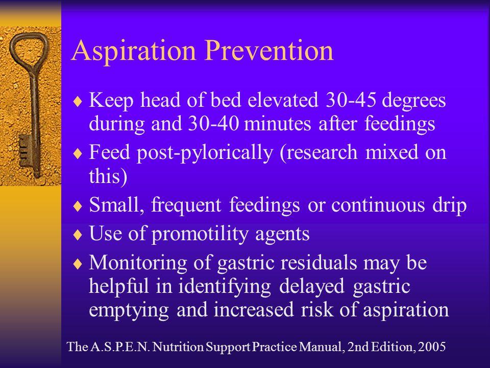 Aspiration Prevention