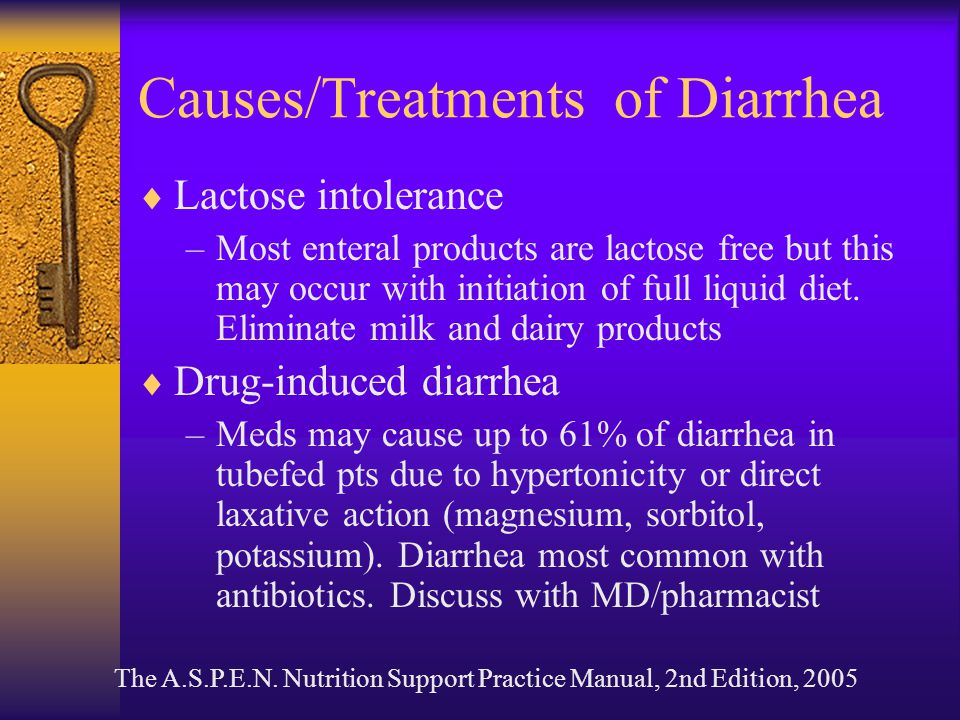 Causes/Treatments of Diarrhea