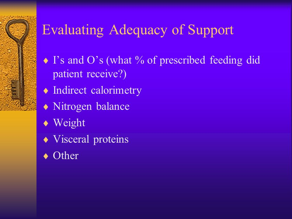 Evaluating Adequacy of Support