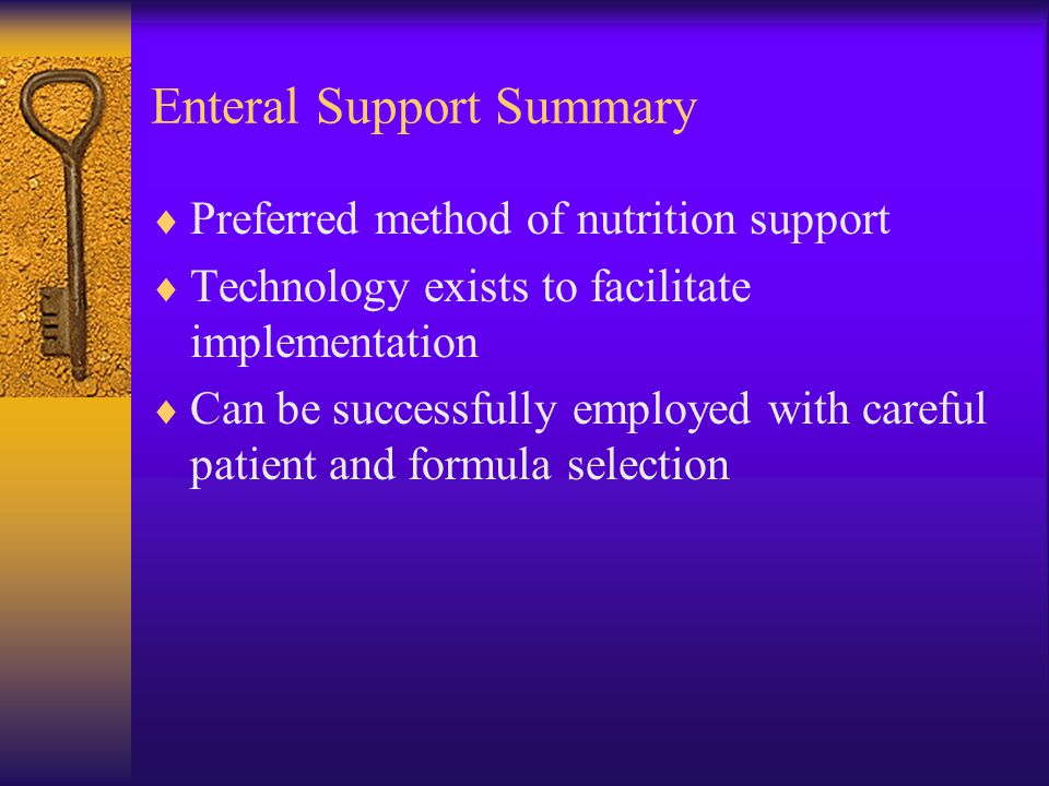 Enteral Support Summary