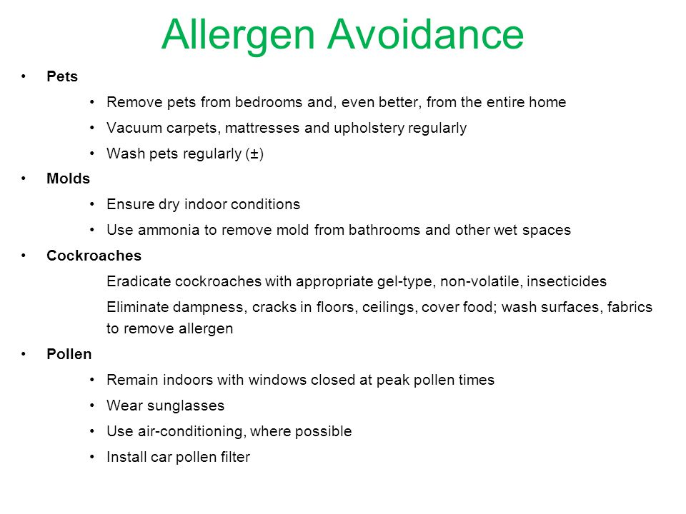 Allergen Avoidance Pets