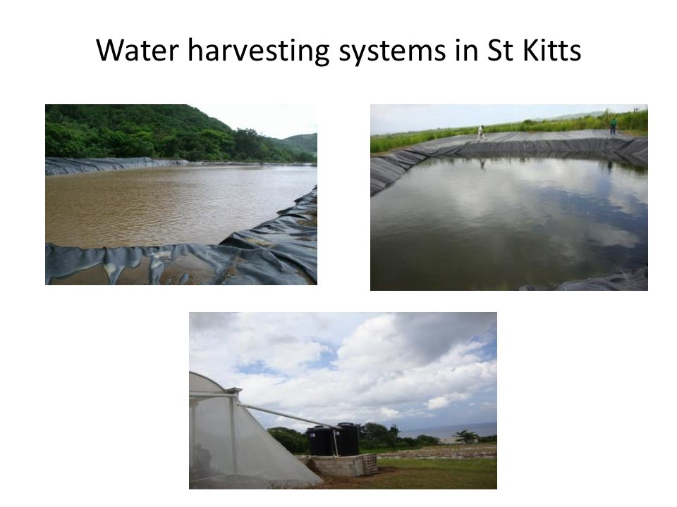 Water harvesting systems in St Kitts
