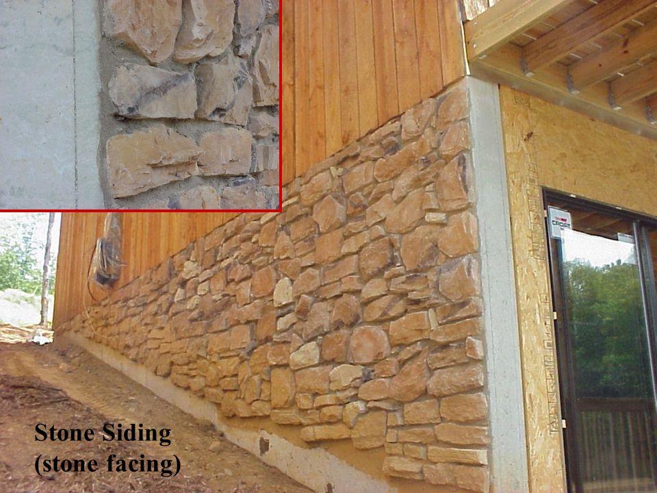 Stone Siding (stone facing)