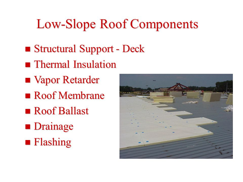 Low-Slope Roof Components
