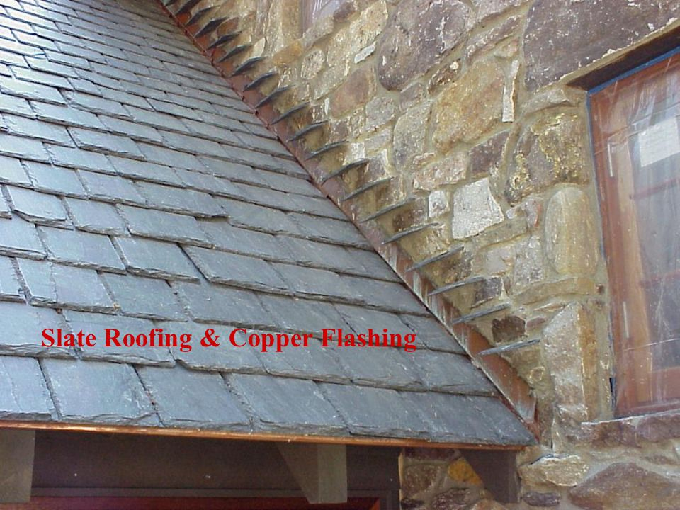 Slate Roofing & Copper Flashing