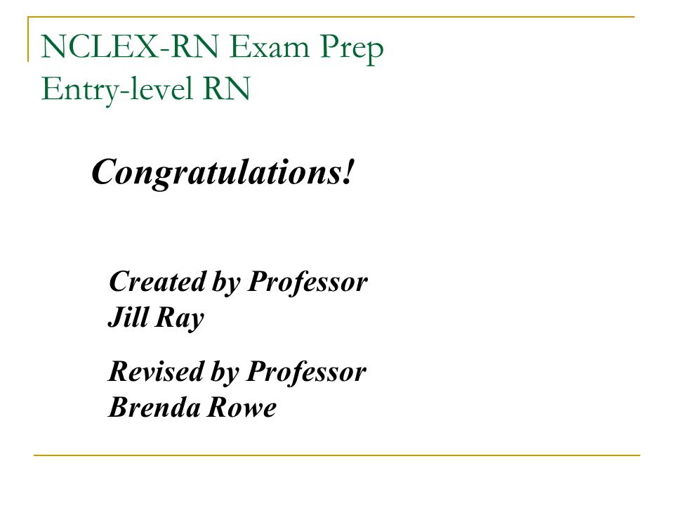 NCLEX-RN Exam Prep Entry-level RN