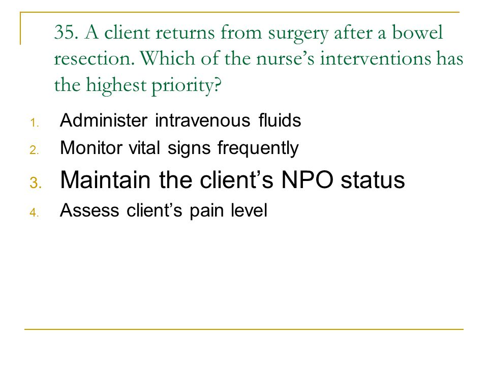 Maintain the client's NPO status