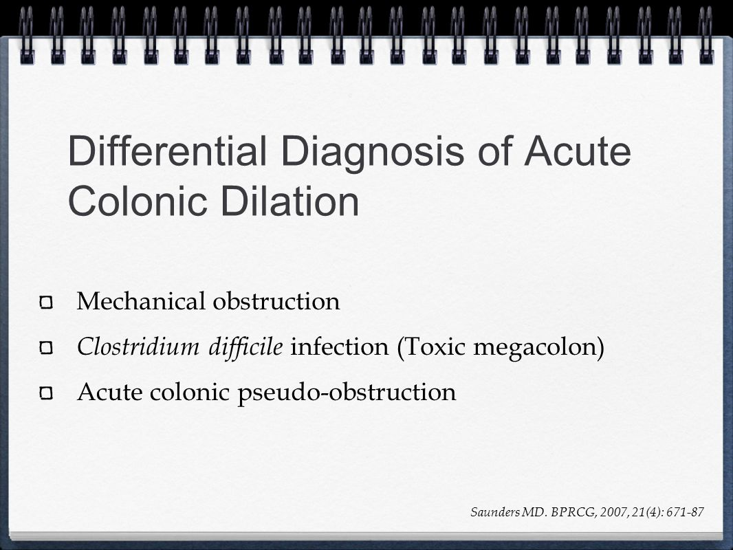 Differential Diagnosis of Acute Colonic Dilation
