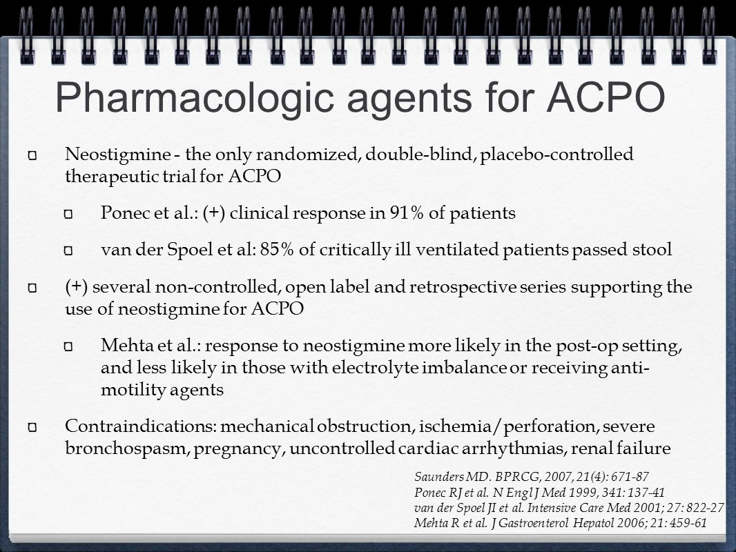 Pharmacologic agents for ACPO