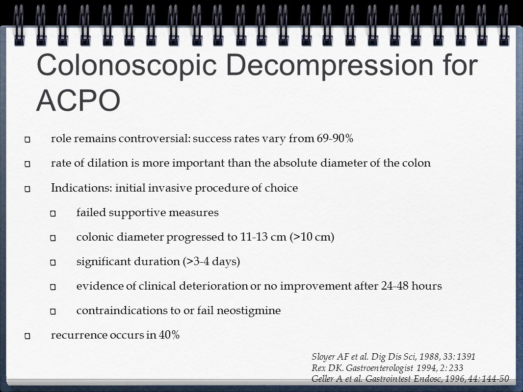 Colonoscopic Decompression for ACPO