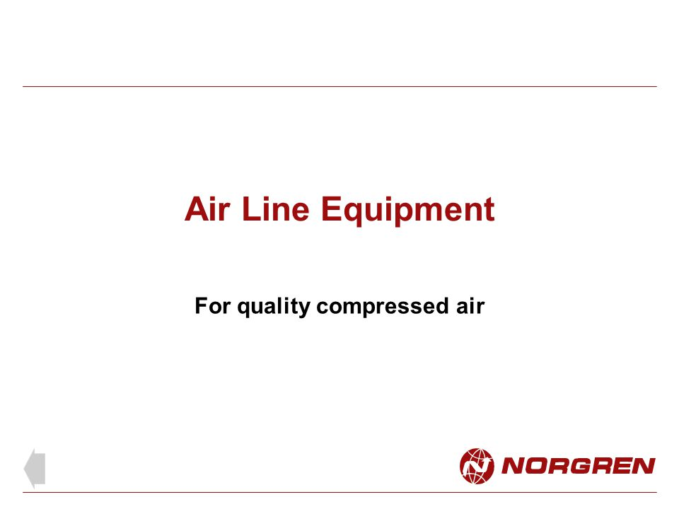 For quality compressed air